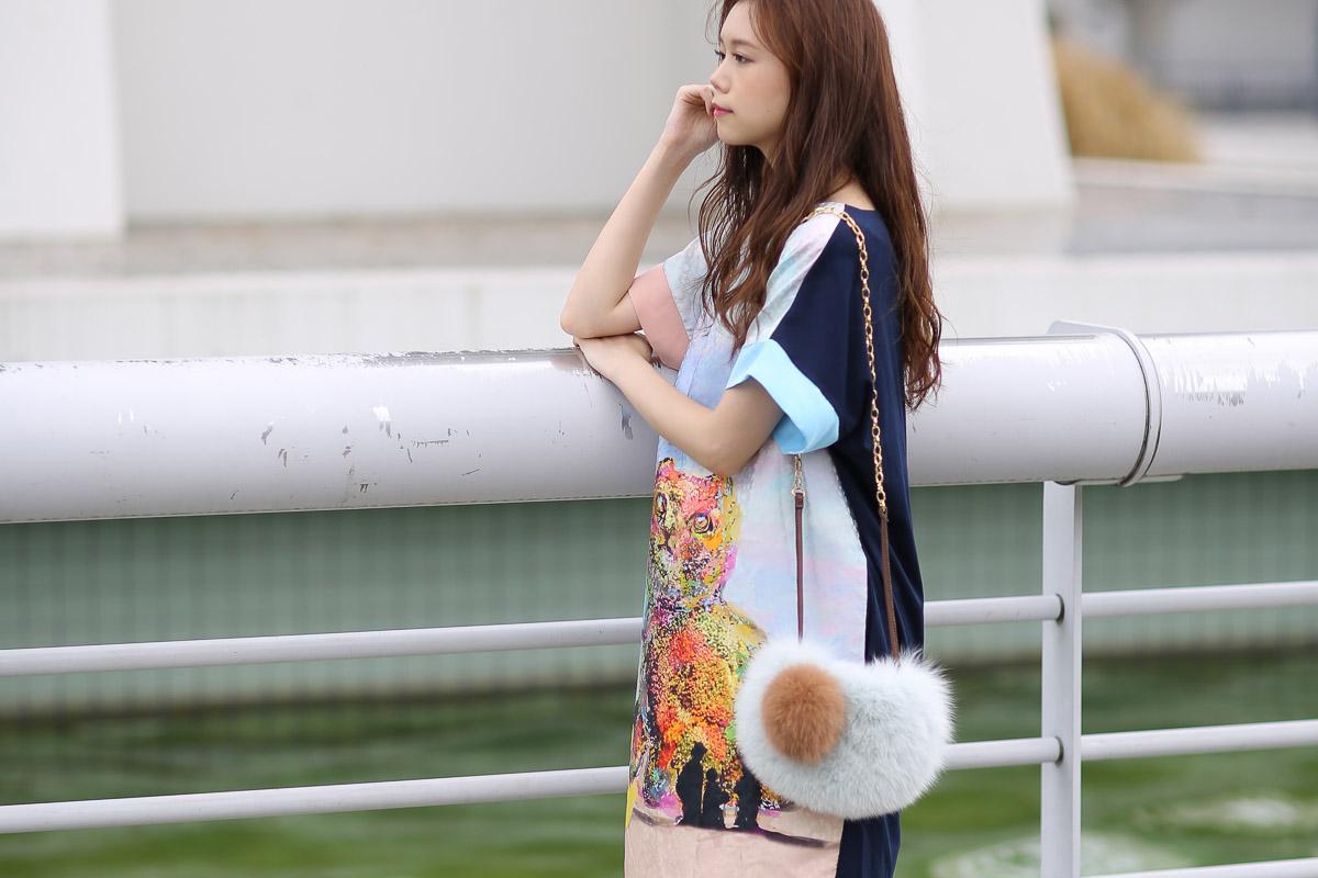 ツモリチサトのバッグシリーズNeko Kao fur