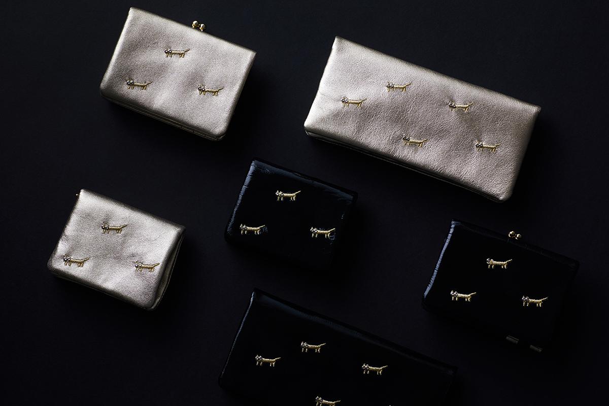 ツモリチサトキャリー 財布 ネコネコししゅうシリーズ